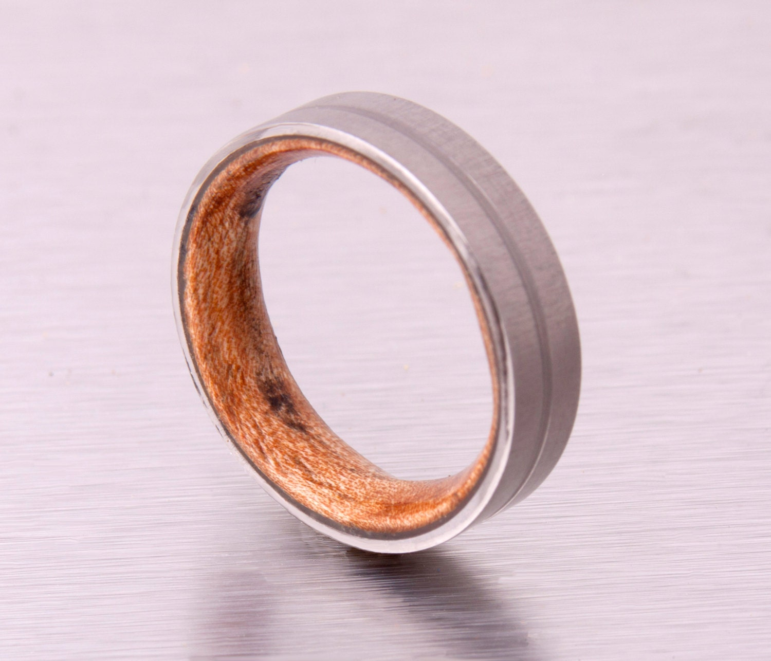 mens wood wedding band with titanium ring. Black Bedroom Furniture Sets. Home Design Ideas
