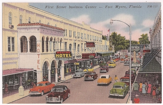 Vintage Fort Myers Florida Fl First Street Business Center