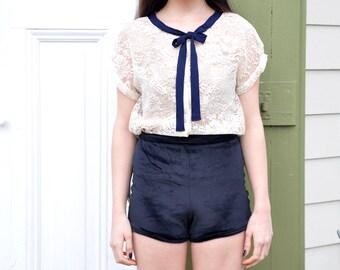 High Waisted Velvet Tap Shorts - Booty Shorts - Custom Colors