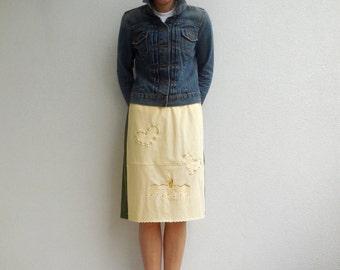 Arizona TShirt Skirt Women's Recycled T-Shirt Skirt Handmade Clothing Cotton Skirt Spring Summer Skirt ohzie