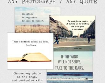 Fine Art photography, Custom Quote Print, typography
