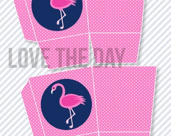 Flamingo Party PRINTABLE Popcorn Box (INSTANT DOWNLOAD) by Love The Day
