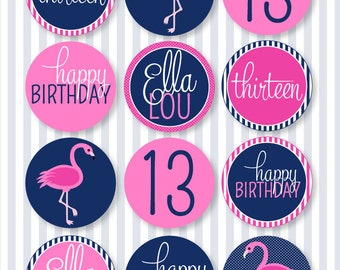 Flamingo Party PRINTABLE 2.5' Party Circles by Love The Day