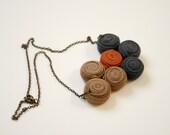 asymmetric fabric necklace