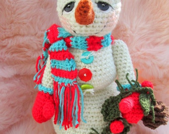Crochet Pattern Huggable Snowman by Teri Crews Instant Download PDF Format Crochet Toy Pattern