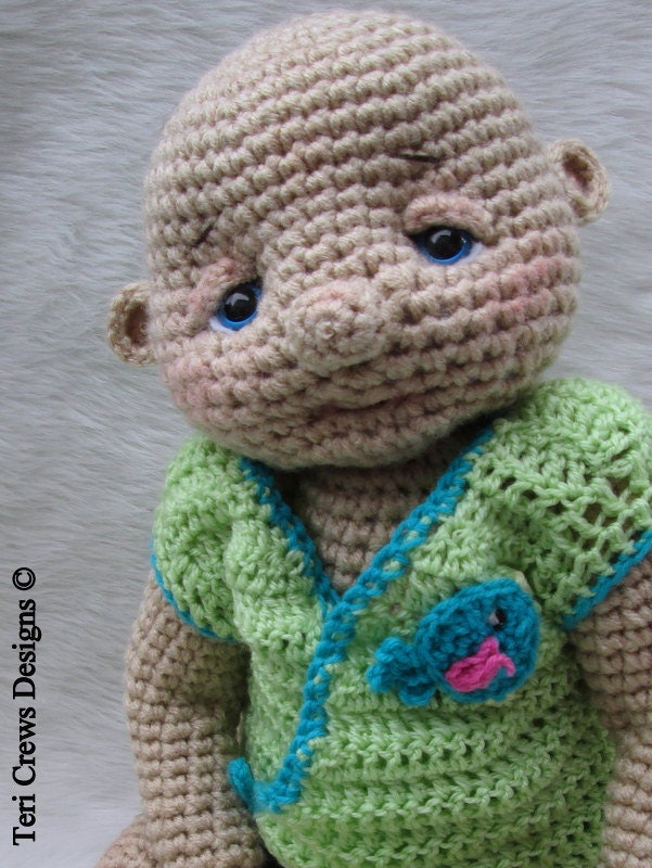 Crochet Pattern Baby Doll : Crochet Pattern Huggable Lifesize Baby Doll by Teri Crews