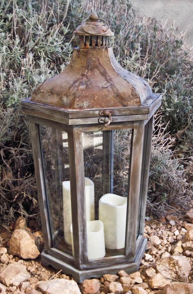 image gallery large rustic lanterns