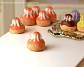 Orange Religieuse Pastry 1/12 scale dollhouse miniature