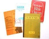 Vintage Church Booklets, Easter and Thanksgiving