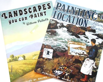 Vintage Art Instruction Books, Painting on Location, Landscapes You Can Paint, Walter Brooks