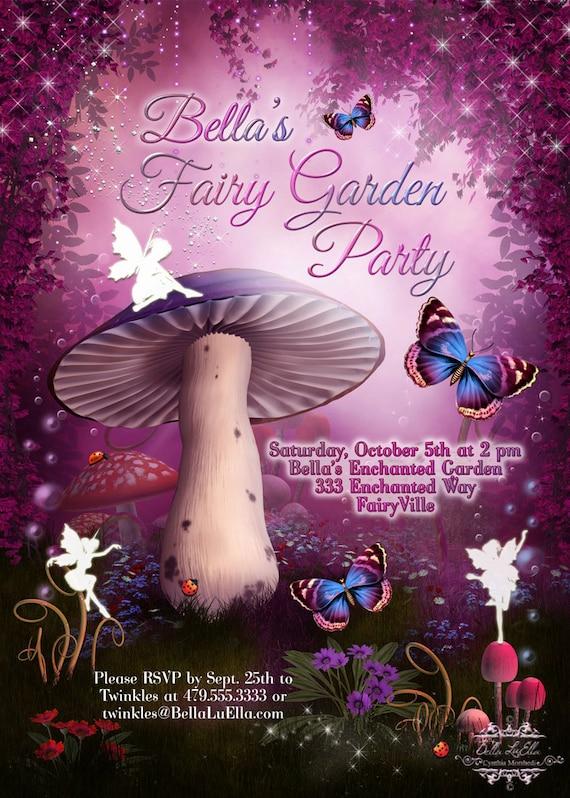 Fairy Invitation Fairy Party Invitation Birthday Party – Fairy Birthday Party Invitations