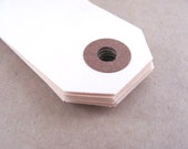 "100 Manila Shipping / Parcel Tags - Small - 2 3/4 x 1 3/8"" - 2.75"" Ivory - Blank - Plain - DIY Packaging / Crafts - Price / Hang / Favor Tag"