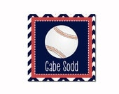 Personalized Stickers - Set of 24 Baseball Stickers, Gift Labels, Gift Tags by sugarandspicenola.com