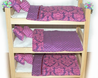 Double Doll Bunk Bed - Purple-icious Bunk - Fits 18 inch dolls and AG dolls