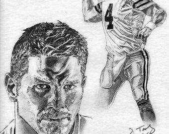 Green Bay Packers Brett Favre Art Poster