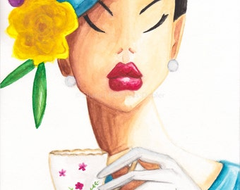 Its Tea Time Darling Fine Art Print