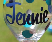 Personalized Wine Glass - Bridesmaid Gift - Monogrammed Wine Glass - Girl's Night