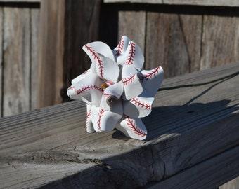 Baseball leather rose
