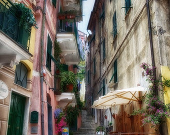 Monterosso Stairs, Cinque Terre, Tuscany, Italy, (6 Sizes)
