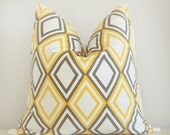 Yellow Diamond Pillow Cover