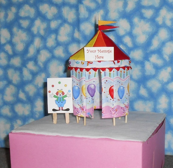 Handmade Fabric circus tent cake topper or table decoration in a fun balloon print with multi colored top as shown in the photo.  sc 1 st  Birthday Wikii - Blogspot & Circus Birthday Party Cake Decorations | Birthday Wikii
