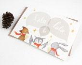 Christmas Cards - Fala Lala La - 10 Greeting Cards