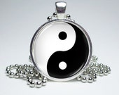 Yin Yang Necklace by MissTanDesigns on Etsy