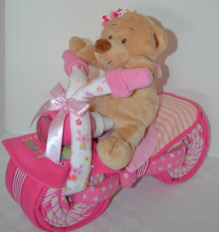 Diaper Cake Motorcycle Bike Diaper Cake Baby Shower Gift