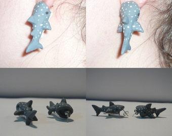 Whale Shark Bite Earrings