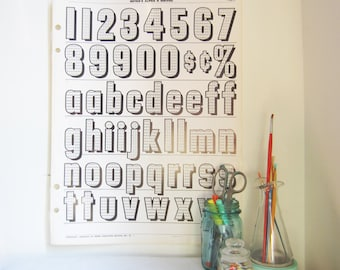 Vintage Alphabet & Number Typography Poster  (Page 21)