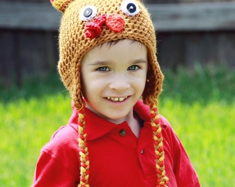 Baby Turkey Hat, Toddler Turkey Hat,  Baby Thanksgiving Hat, Crochet Turkey Hat,  Crochet Baby Photo Prop