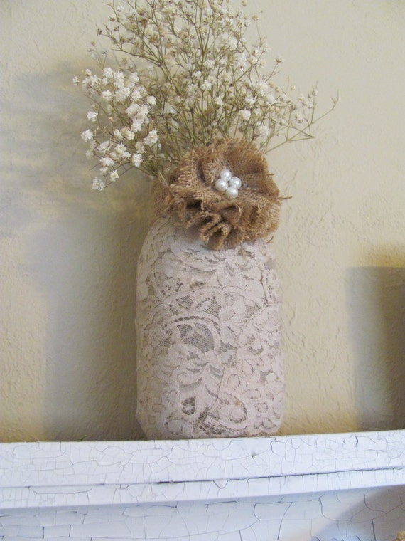 Handmade Natural Burlap Flower / Wedding Decor