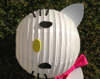 Hello Kitty Inspired White Paper Lantern Decoration