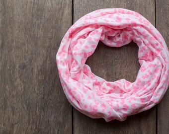 Neon Pink Infinity Scarf Animal Print Versatile Cowl chunky Loop cowl leopard urban Circle scarf Modern scarf