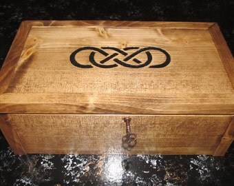 Double Infinity Keepsake Box with Skeleton Key & Picture Frame