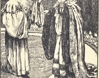 Twa Sisters o' Binnorie Illustration to a Traditional Ballad Eleanor Fortescue Brickdale 1901