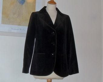Vintage brown velvet jacket St Michael, England Labelled UK 14 (vintage sizing)