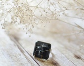 dandelion jewelry resin ring - Make a wish - statement ring, gift for a woman, gift under 30, eco resin, romantic jewelry