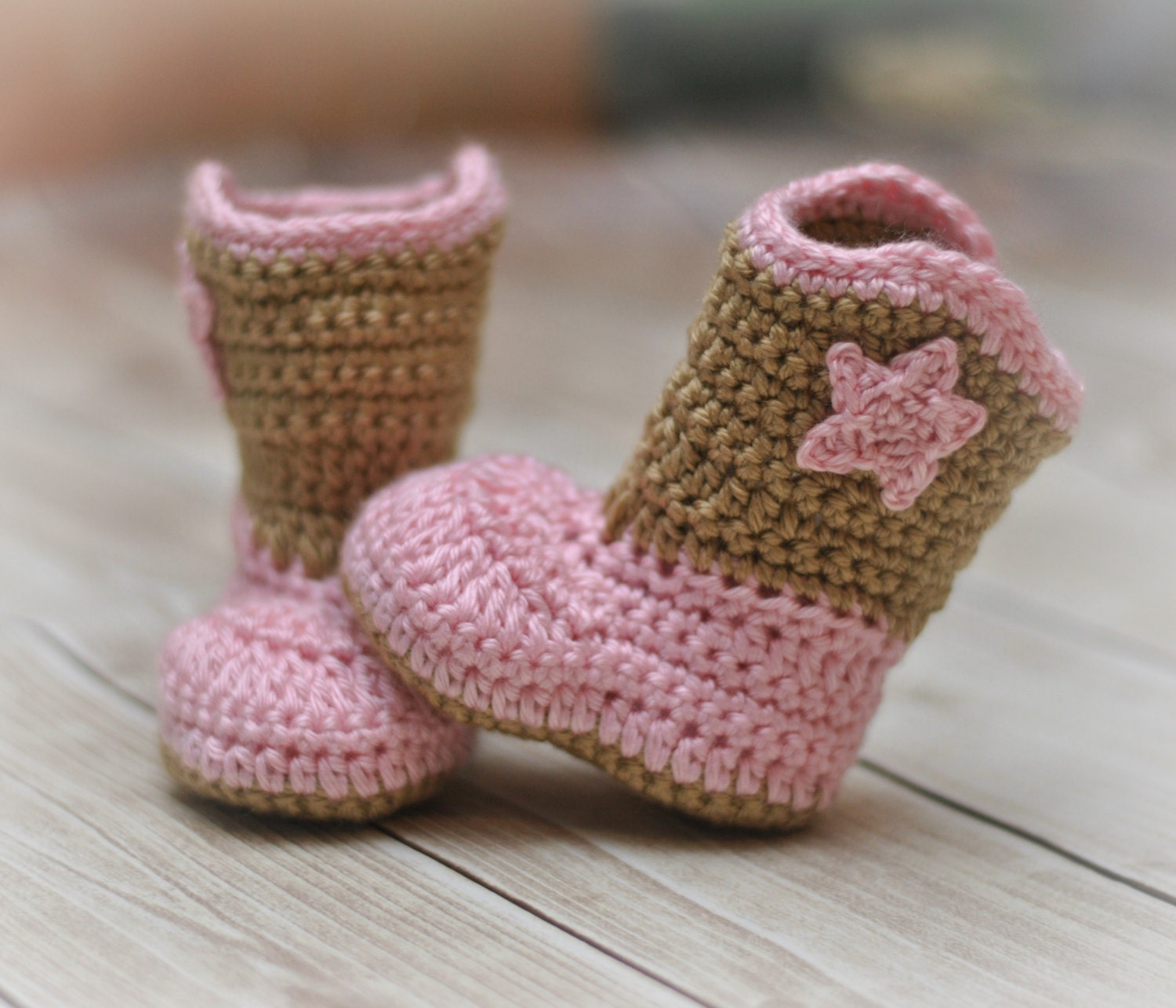 Baby Cowboy Cowgirl Boots Crochet Baby Booties Baby Booties