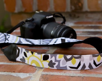 Camera Strap - DSLR Camera Straps - Photographer Gift - Camera Accessories - Birthday Gift - Floral Camera Strap - Maggie - READY to SHIP