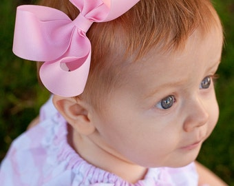 Baby Headband, Set of 6, Large Loopy Headbands, ANY colors you choose, Baby Bows, baby girl, bows, hair bows, 100+ colors, baby