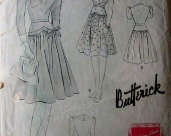 Butterick 1466 Womens 40s Frock Dress Sewing Pattern Bust 30
