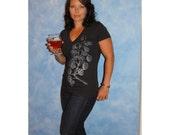 Hops Vine Womens Triblend V-Neck Craft Beer T-Shirt Mother's Day Gift