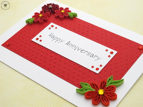 Items similar to anniversary card happy