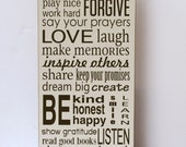 Family Rules Wood Sign, Rules of the Family, Home Decor Sign, Art for Family, Family Room Wall Art, Rustic, Family, Rules, Playroom, Wall