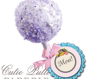 """Marie Antoinette Party Favor Tags 2""""x 2"""" by Cutie Putti Paperie"""