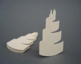 50 Ivory Wedding Cake confetti punch die cut scrapbook embellishments - No494