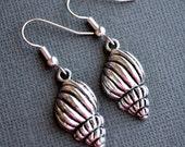 Silver Conch Shells . Earrings