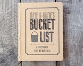 Personalized Bucket List- Pocket Journal- Kraft Cover