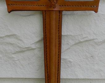 Sword w/ LION Emblem - Handmade Leather